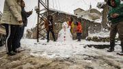 La neige ce mardi sur Bagdad.