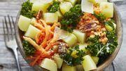Recette : Bowl de pommes de terre et chou kale