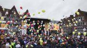 Adorable rassemblement de lutins sur la Grand-Place de Tournai