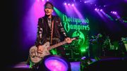"Johnny avec son groupe ""Hollywood Vampires"" en mai 2019"