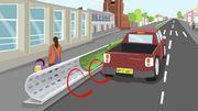 Ces barrières routières pourraient protéger les piétons de la pollution