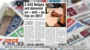 """Les Belges dénoncent leurs """"amis"""" au fisc !"""