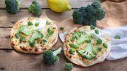 Recette : pizzettes blanches au brocoli frais