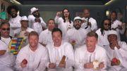 Bonne humeur communicative pour la version 'instruments de salle de classe' des Backstreet Boys