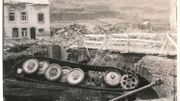 Le pont de l'Ourthe s'est effondré en partie sous le poids du char