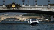 """Nouveaux tests des Sea Bubbles, """"taxis volants"""", sur la Seine"""