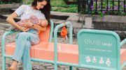 À Courtrai, vous trouverez un banc spécialement conçu pour allaiter