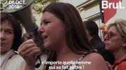 L'appel poignant d'une adolescente lors d'un rassemblement contre les violences faites aux femmes