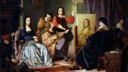 """""""Léonard de Vinci peignant La Joconde"""" - Cesare Massari"""