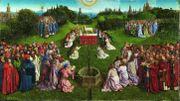 Les restaurateurs de l'IRPA découvrent l'Agneau original de Van Eyck