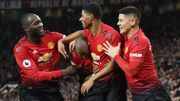 Manchester United et Lukaku, buteur, se régalent face à Fulham et Odoi