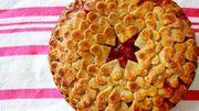 Recette : tarte au coeur de fraise