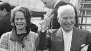Charlie Chaplin et Oona ONeill 1965
