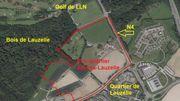 L'éco-quartier sera construit en bordure de la N4, du boulevard et du bois de Lauzelle, au nord-ouest de Louvain-la-Neuve.