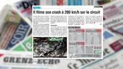 Un père de famille filme son crash à 200 km/h