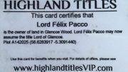 Devenez Lord en vous offrant une parcelle des Highlands