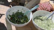Recette de Carlo: sauce chimichurri et sauce tartare pour barbecue