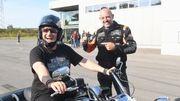 David Jeanmotte n'a plus besoin de personne avec sa nouvelle Harley Davidson