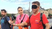 Eric Boever a été l'un des premiers à tester la marche des 100 km avec un bandeau sur les yeux.