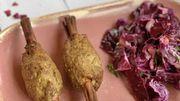 Recette de Candice: Grignotines de porc aux cacahuètes et au sésame, chou rouge caramélisé