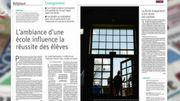 La Revue de presse : l'ambiance d'une école influence la réussite des élèves.