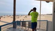 Poste des nageurs sauveteurs sur Narbonne plage, 22 juillet 2020