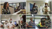 Typh Barrow en visite et en concert surprise dans l'hôpital du MontLégia pour remercier le personnel soignant