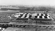 Vue aérienne de l'ancien siège de l'Otan, à Bruxelles, dans les années 70.