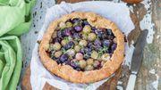 Recette : tarte sucrée aux raisins et thym