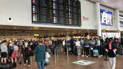 Le hall des départs de l'aéroport de Bruxelles-National ce mercredi 1er juillet.