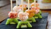Recette : Tapas au kiwi et crevettes épicées