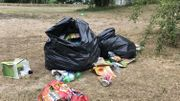 15 à 20 sacs-poubelles sont ramassés par jour