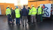 Nous avons rencontré un petit groupe de travailleurs, inquiets et préoccupés...