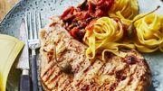 Recette : Grillades de veau et pâtes à la puttanesca