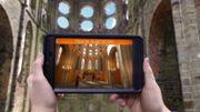 Une tablette numérique pour visiter  l'Abbaye de Villers-la-Ville