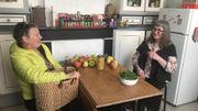 Isabelle pratique le troc alimentaire, notamment avec Véronique