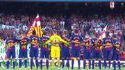 Le Camp Nou se recueille pour les victimes des attentats