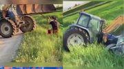 Vidéo insolite: pas de chance pour ce tracteur au grand cœur