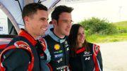 Kevin Borlée et Camille Laus en WRC avec Thierry Neuville