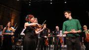 Shirly Laub, Patrick Leterme et l'Orchestre du Festival Musiq'3