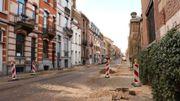 La rue Berkendael sans ses bouleaux