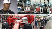 """L'absence critiquée d'Hamilton au show de Londres, le """"bouclier"""" Ferrari, Stoffel bat Button... à vélo"""