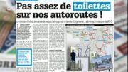 Pas assez de toilettes sur nos autoroutes