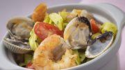 Recette : tagliatelles vertes aux fruits de mer