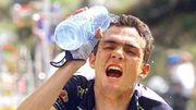 Ricahrd Virenque, lors de l'étape du Tour 1997 entre Luchon et Andorre.