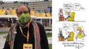 Pierre Kroll offre un dessin original pour les enchères de Viva for Life