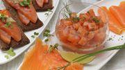 Recette : tartare de saumon fumé à l'aneth