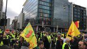 Gilets jaunes à Bruxelles: de plus en plus de monde à Bruxelles (photos)