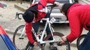 L'équipe Lotto s'occupe du vélo de Sieberg
