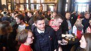 300 supporters du Standard célèbrent la 8e Coupe de Belgique à Liège